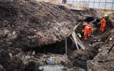 吉林白城一管道施工工地发生坍塌 一名工人被埋压